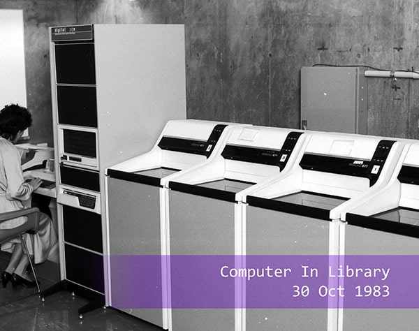 a computer set up in the UQ Library